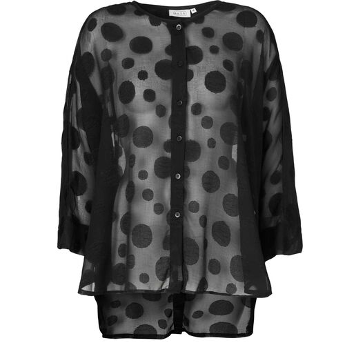 INGA BLOUSE, BLACK, hi-res