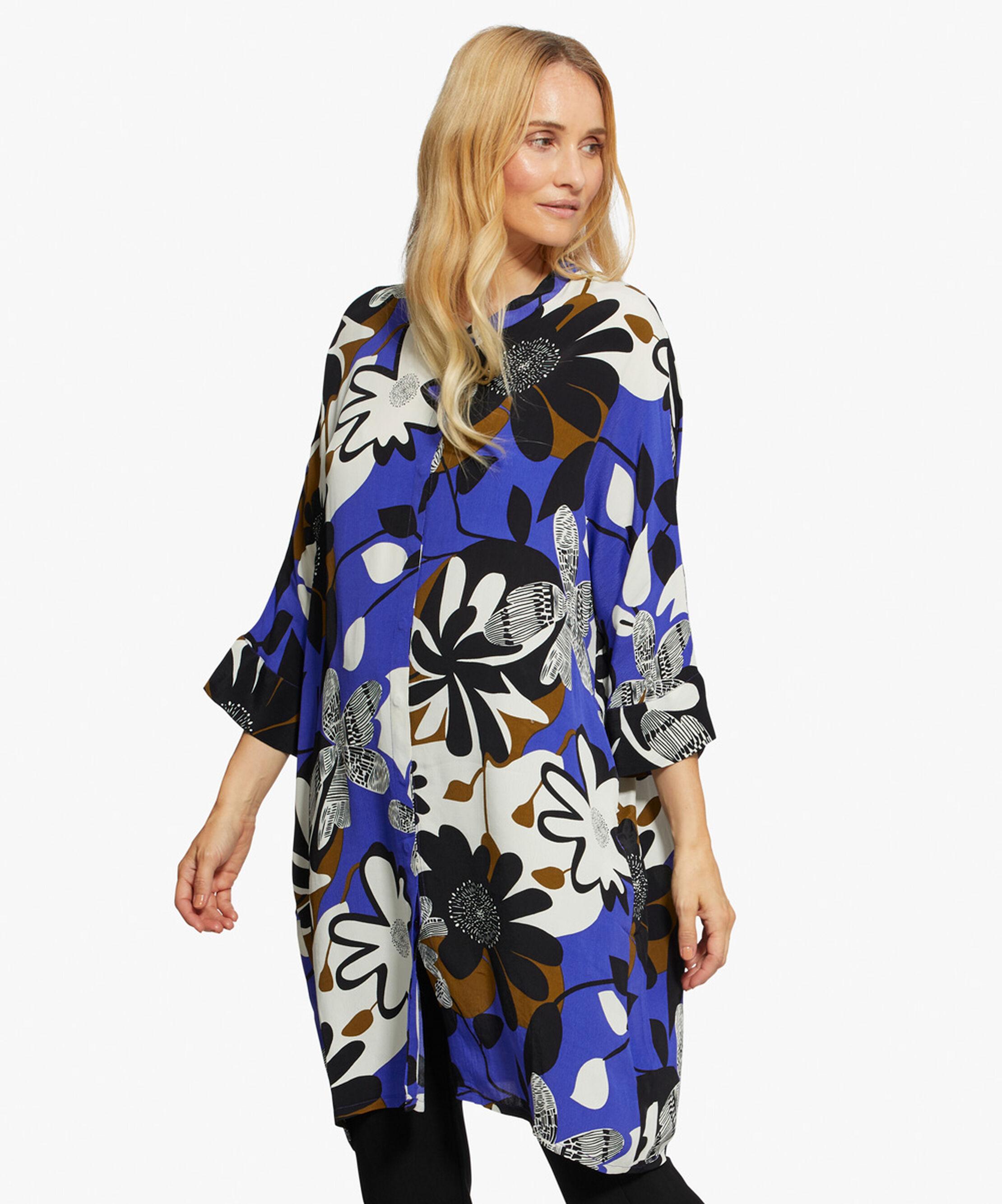 IOSETTA SHIRT DRESS, Clematis Blue, hi-res