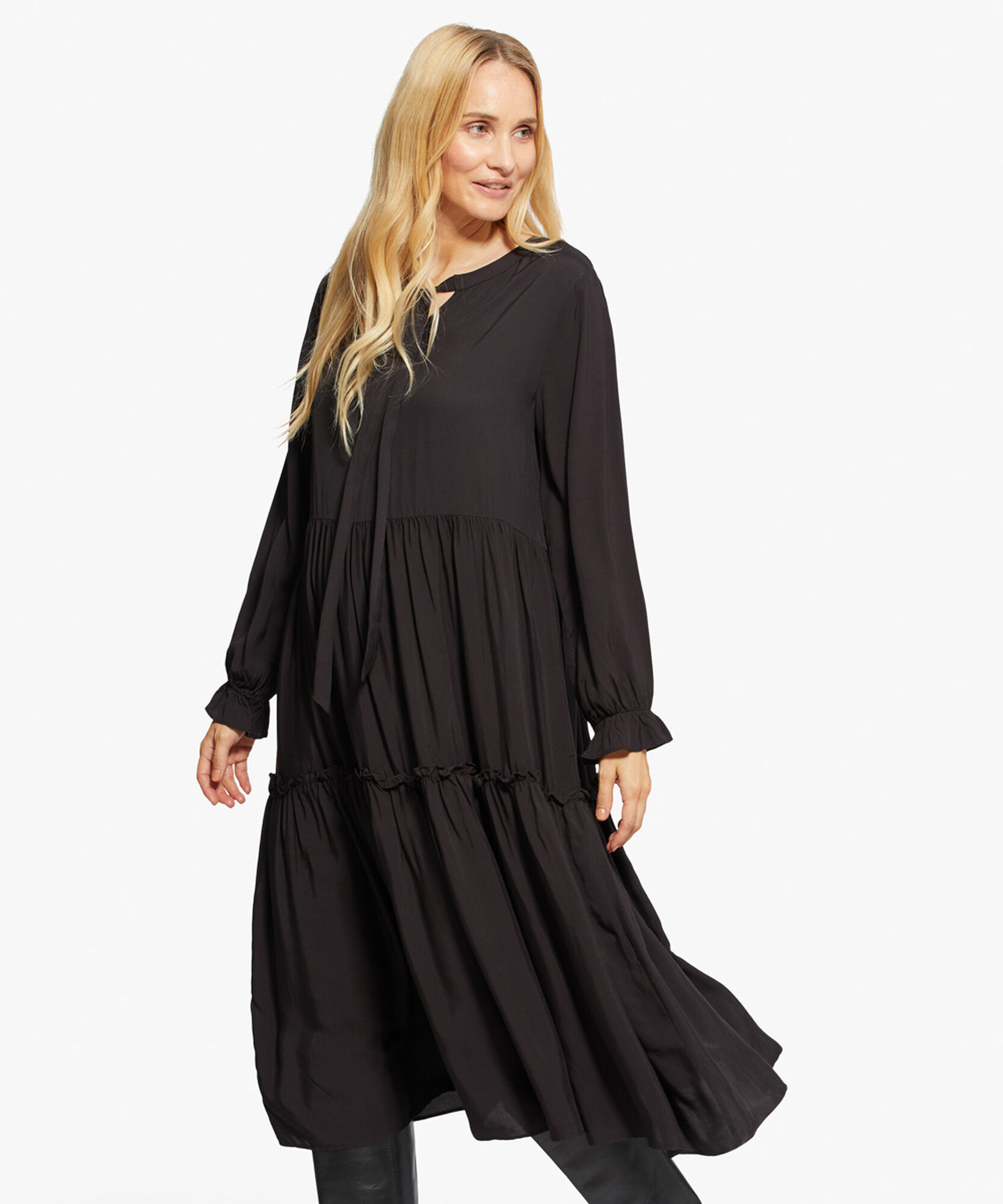 NUKINI DRESS, Black, hi-res