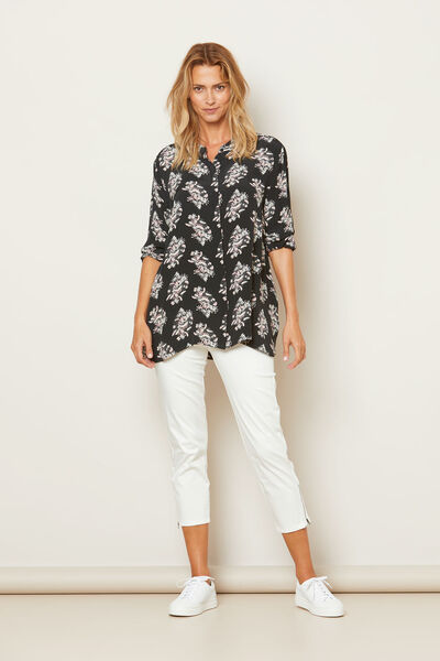 IRANA BLOUSE, W ROSE ORG, hi-res