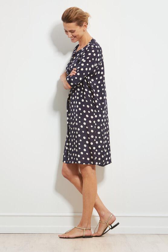 NATALIA DRESS, NAVY, hi-res