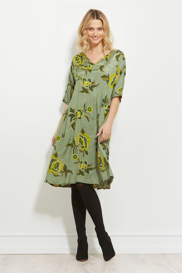NIKITI DRESS, LIME, hi-res