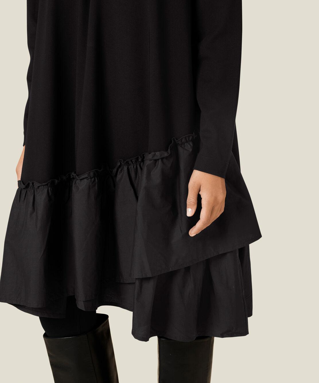 NELL JERSEY DRESS, Black, hi-res