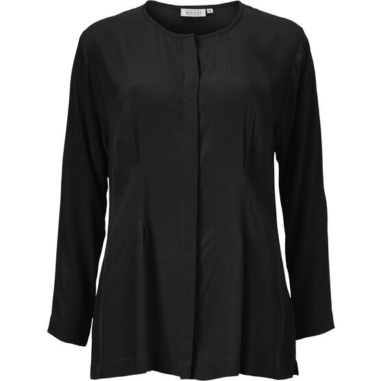 IRMGART BLOUSE, BLACK, hi-res