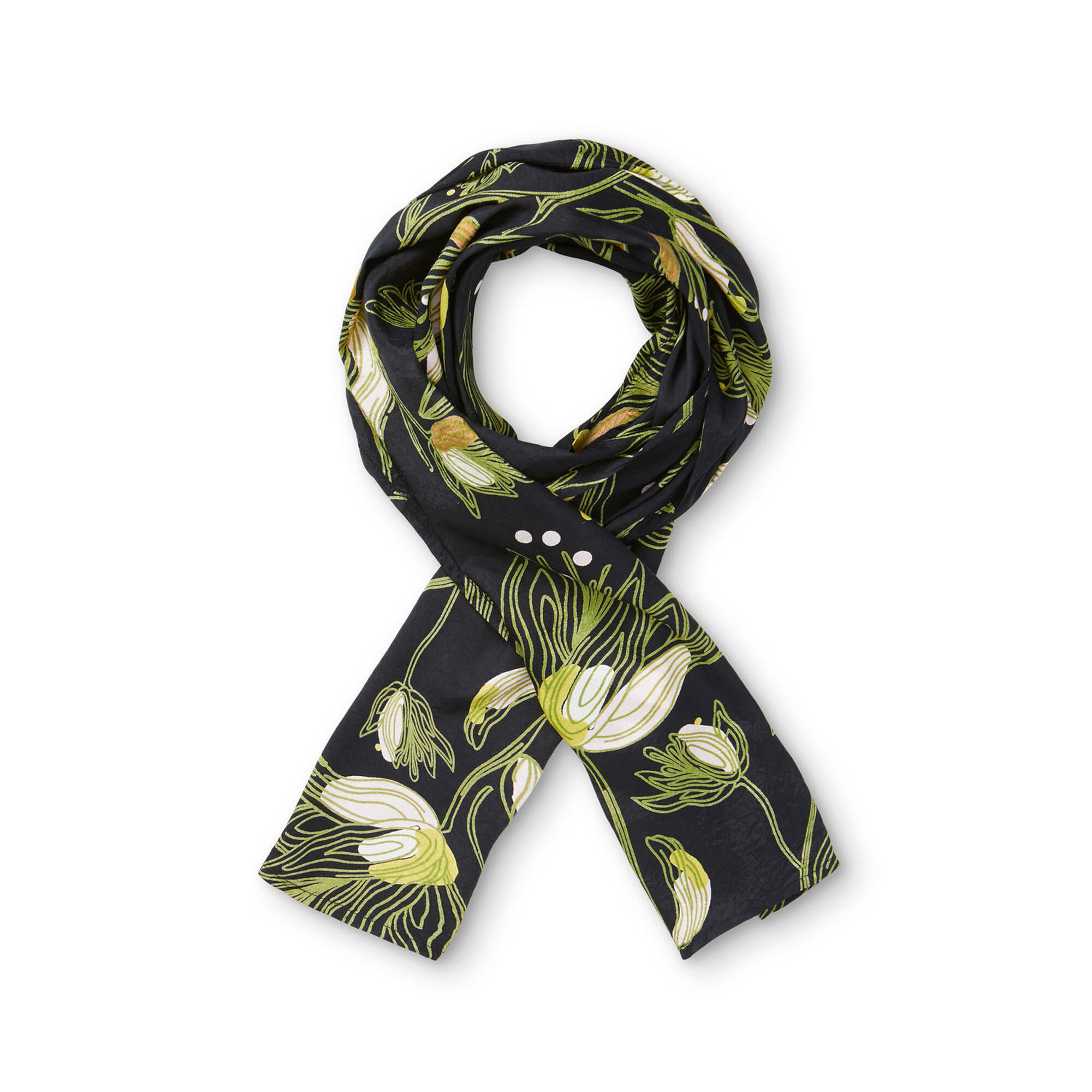 ALONG SCARF, Green Sheen, hi-res