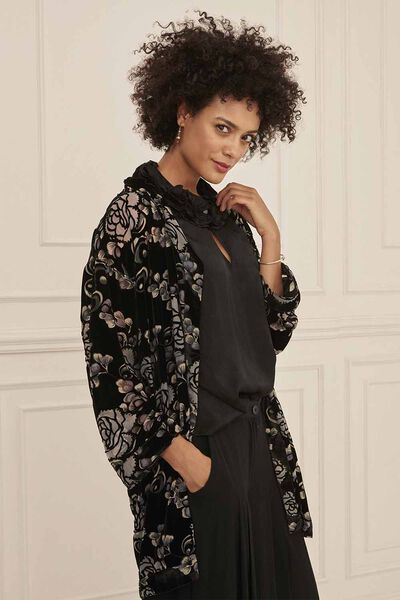 JOVITA JACKET, BLACK ORG, hi-res