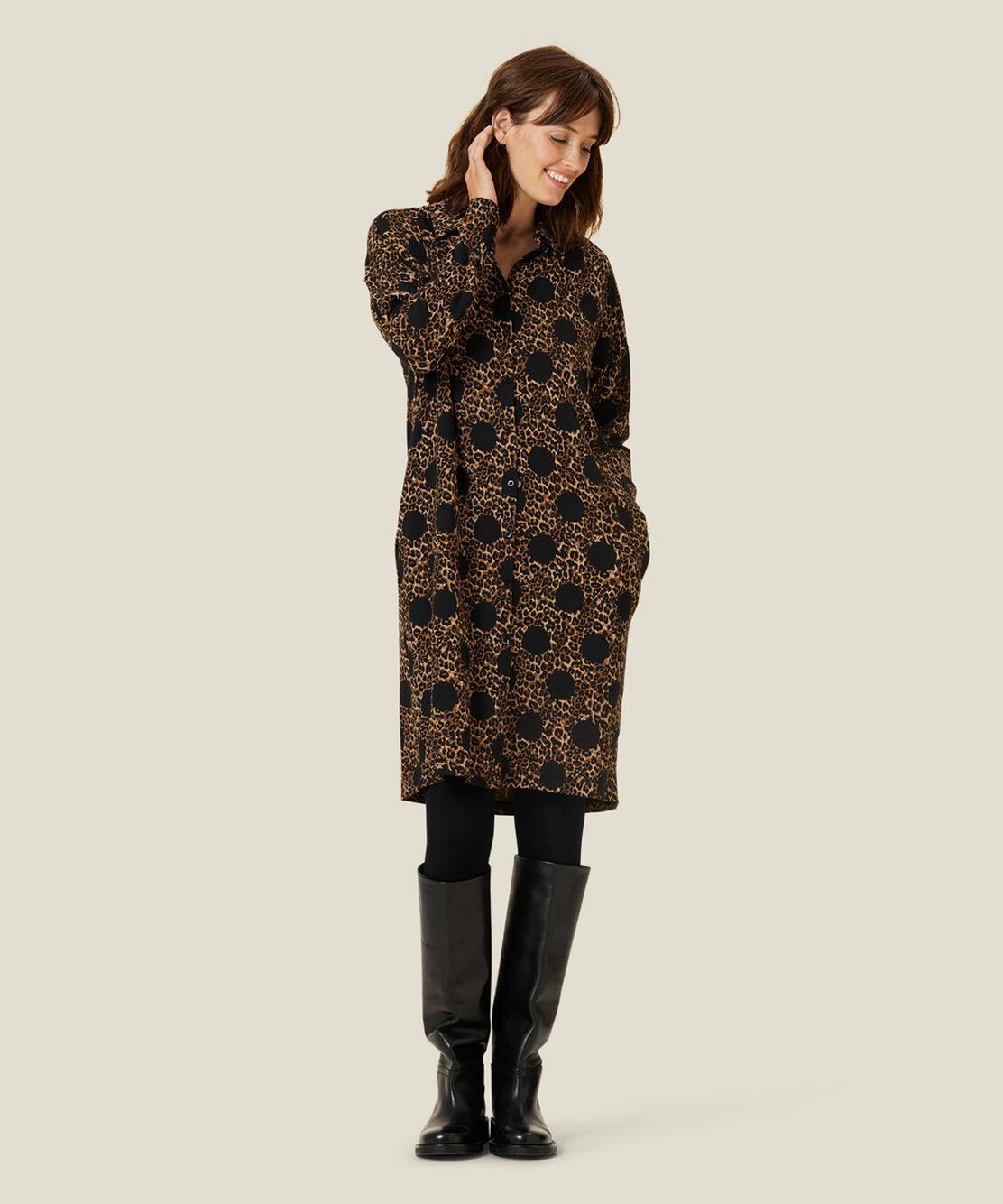 NITZINA JERSEY SHIRT DRESS, Monk's Robe, hi-res