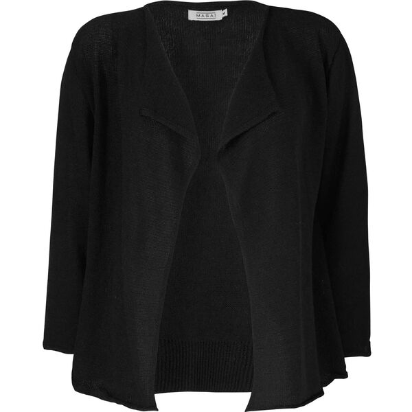LINELLA CARDIGAN, BLACK, hi-res