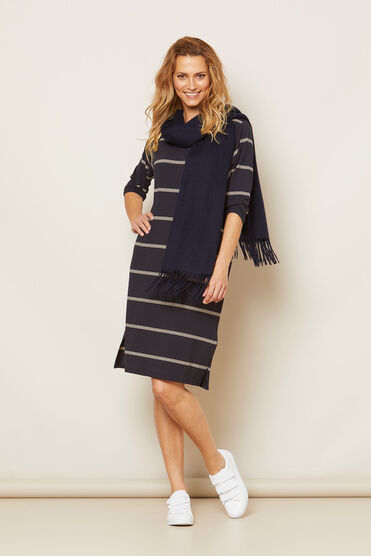 NESSI DRESS, NAVY, hi-res