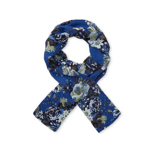 ALONG SCARF, GREEK BLUE, hi-res