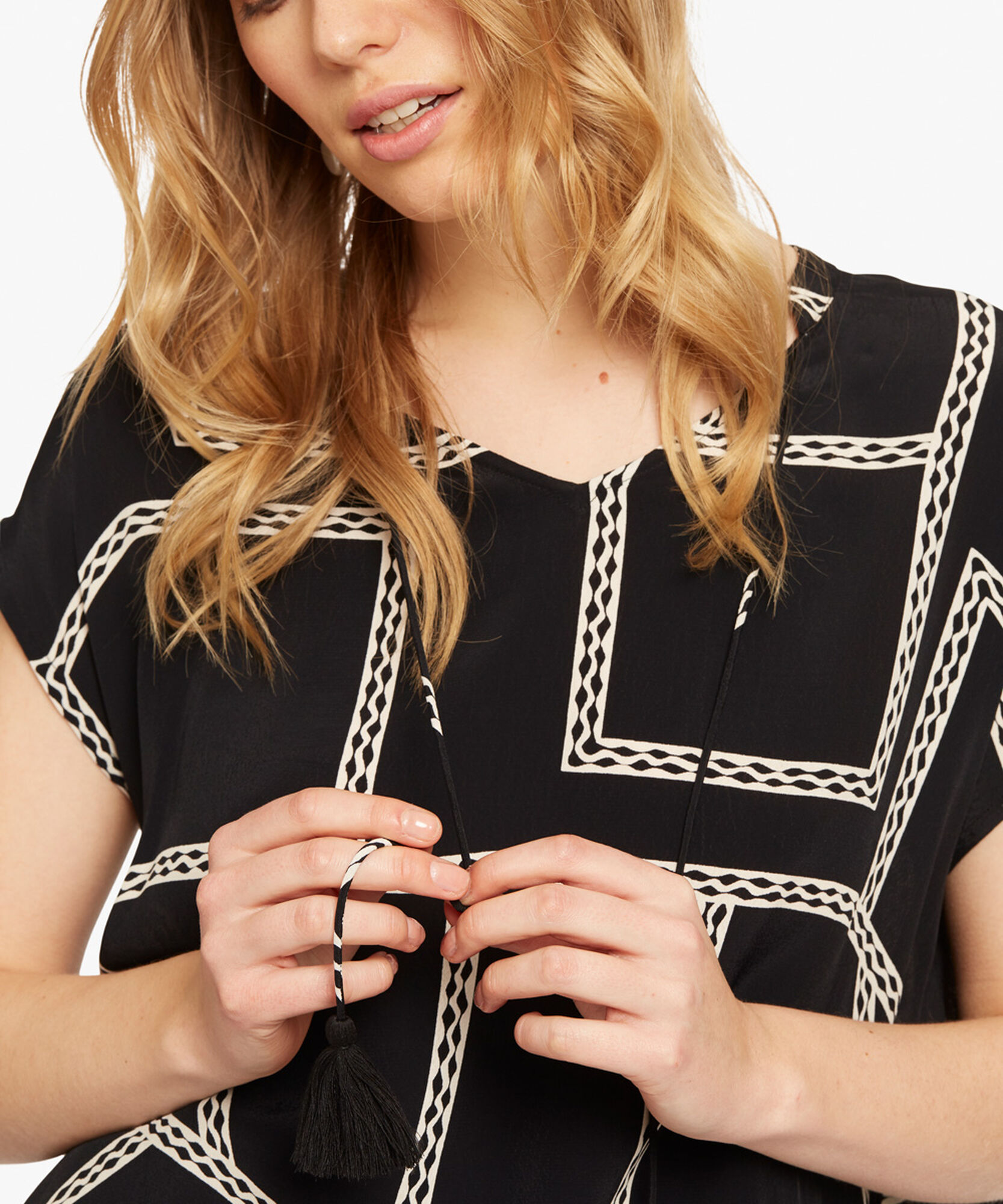 EDORA TOP, Black, hi-res