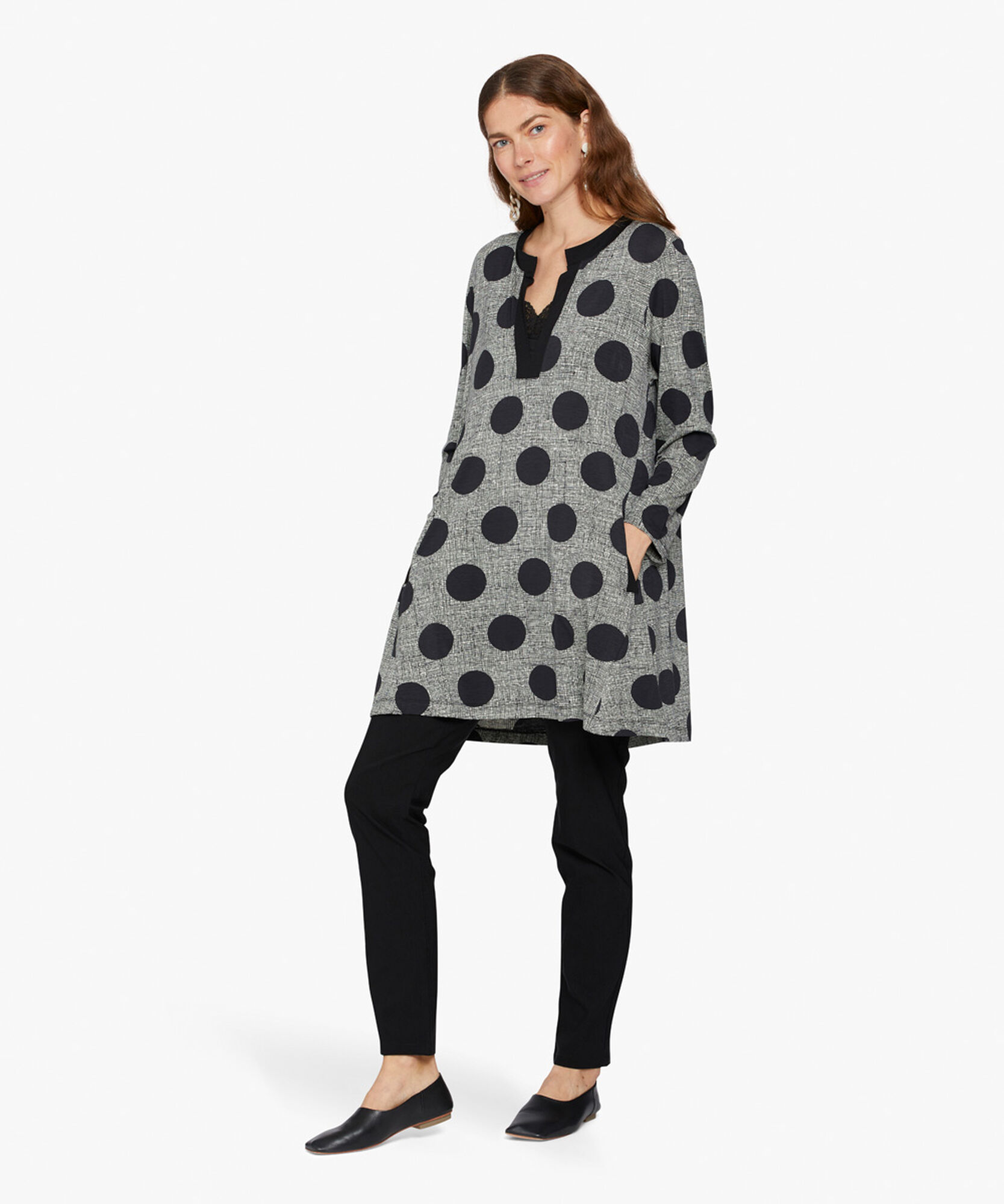 GYDA TUNIC , Black, hi-res