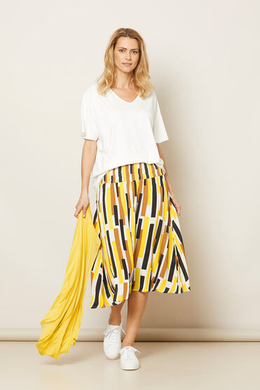 SONDRA SKIRT, Cream gold, hi-res