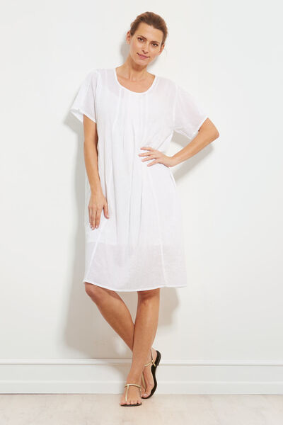 NAKATA DRESS, WHITE, hi-res