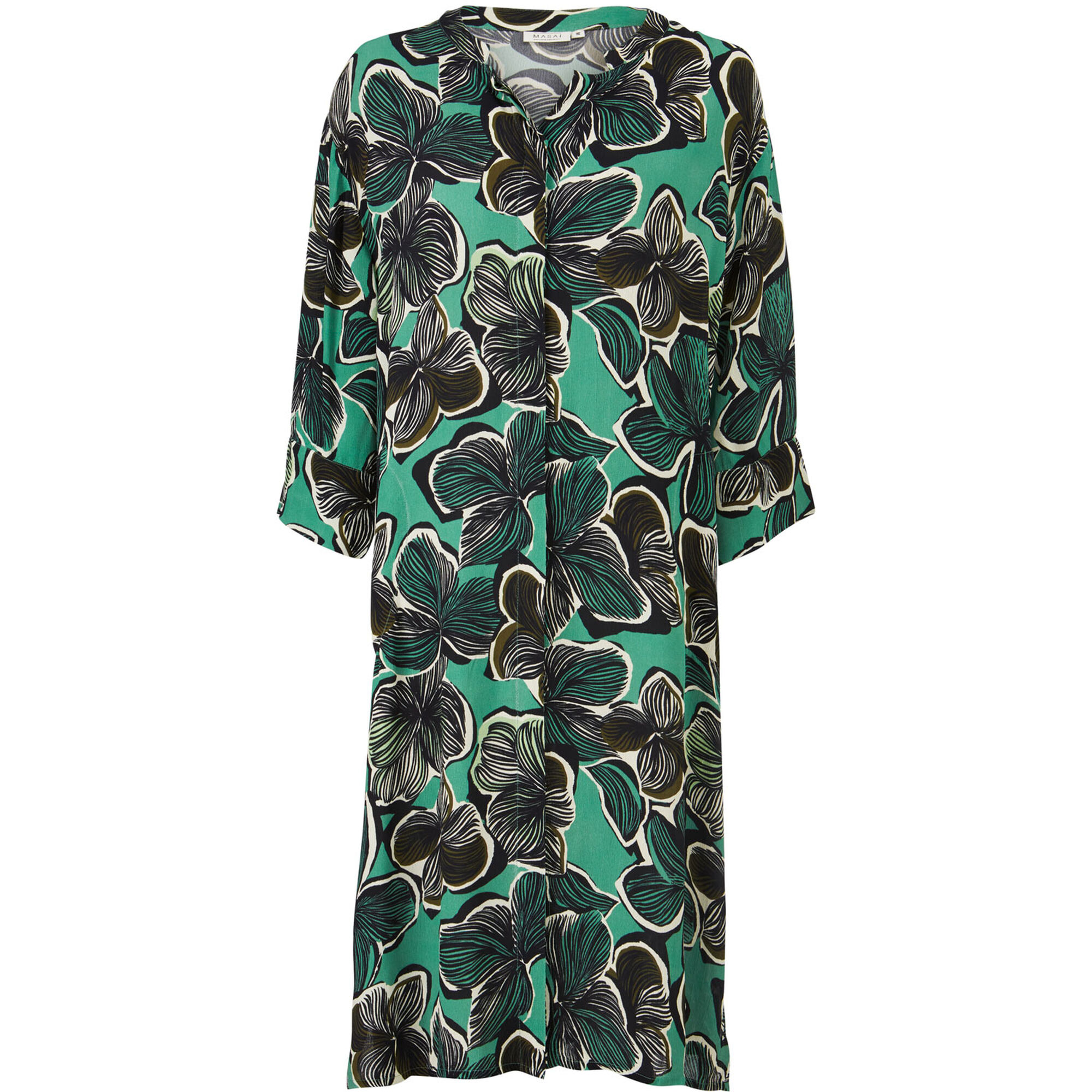 NIMES SHIRT DRESS, Bottle Green, hi-res