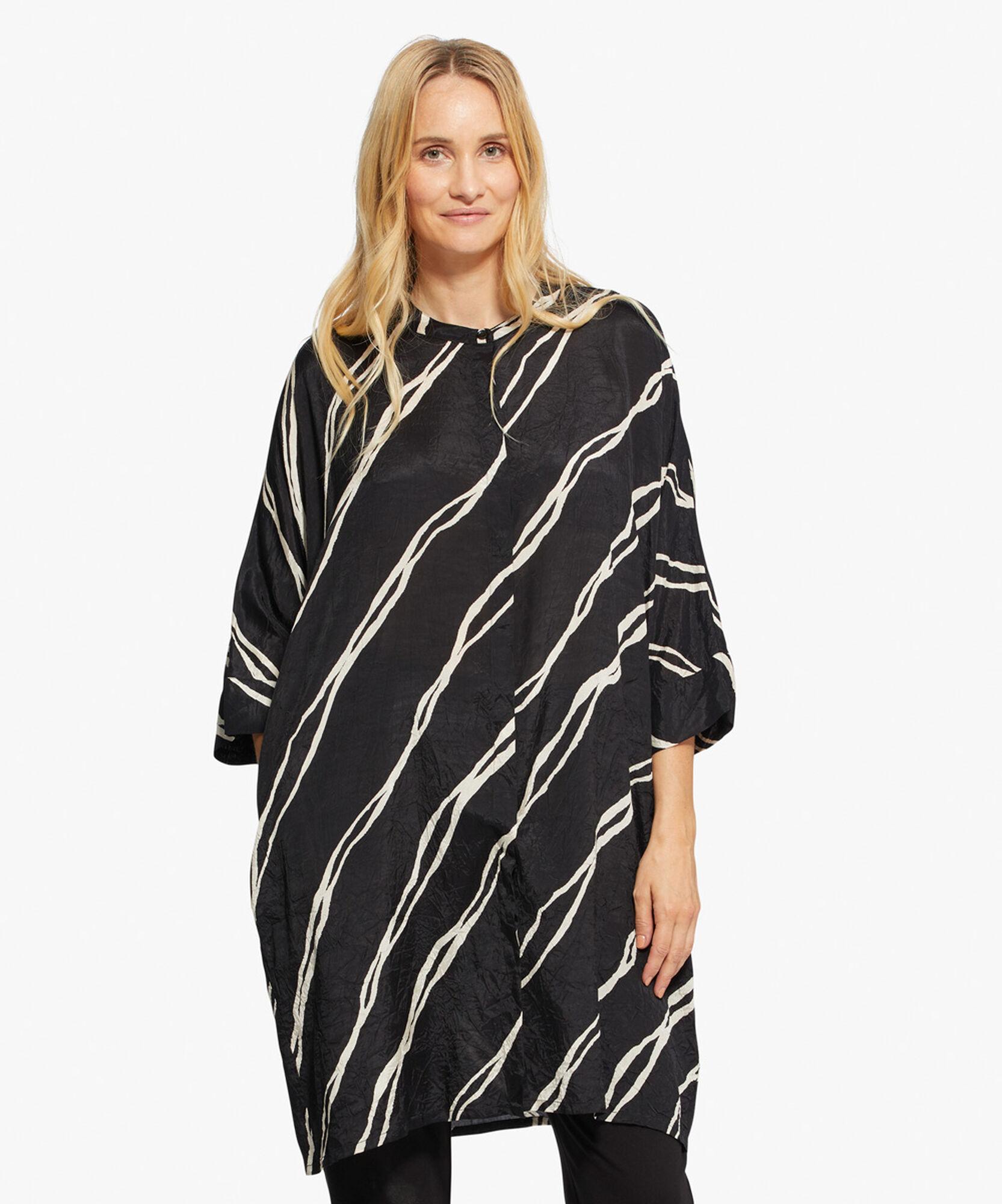 IOSETTA SHIRT DRESS, Black, hi-res