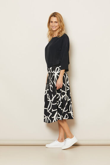 SALLY SKIRT, Black, hi-res