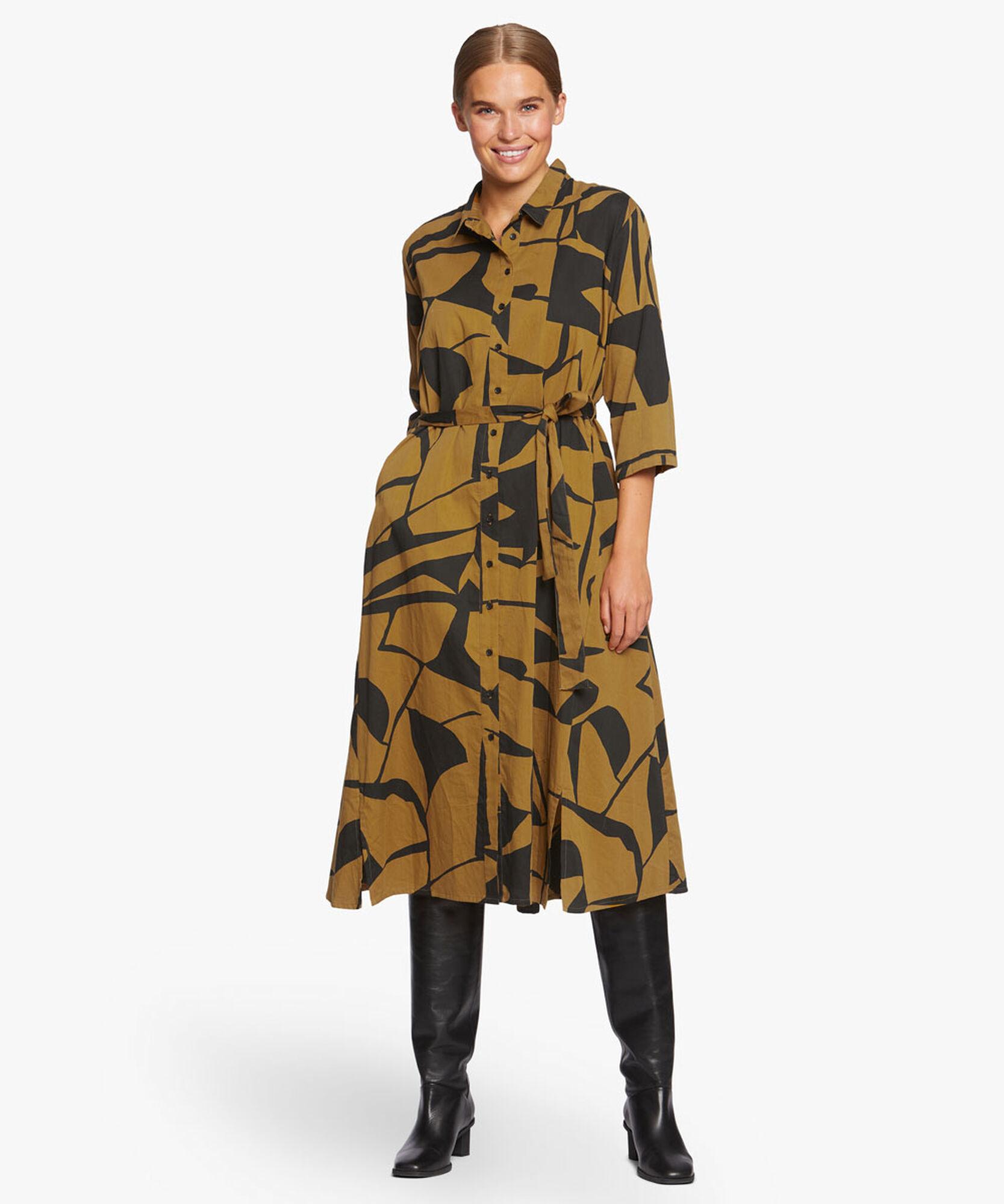NINETTE SHIRT DRESS, Tapenade, hi-res