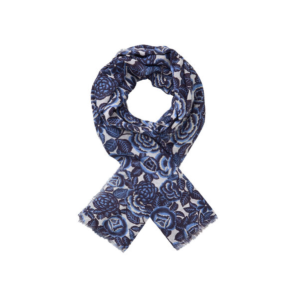 AISHA SCARF, GREEK BLUE, hi-res
