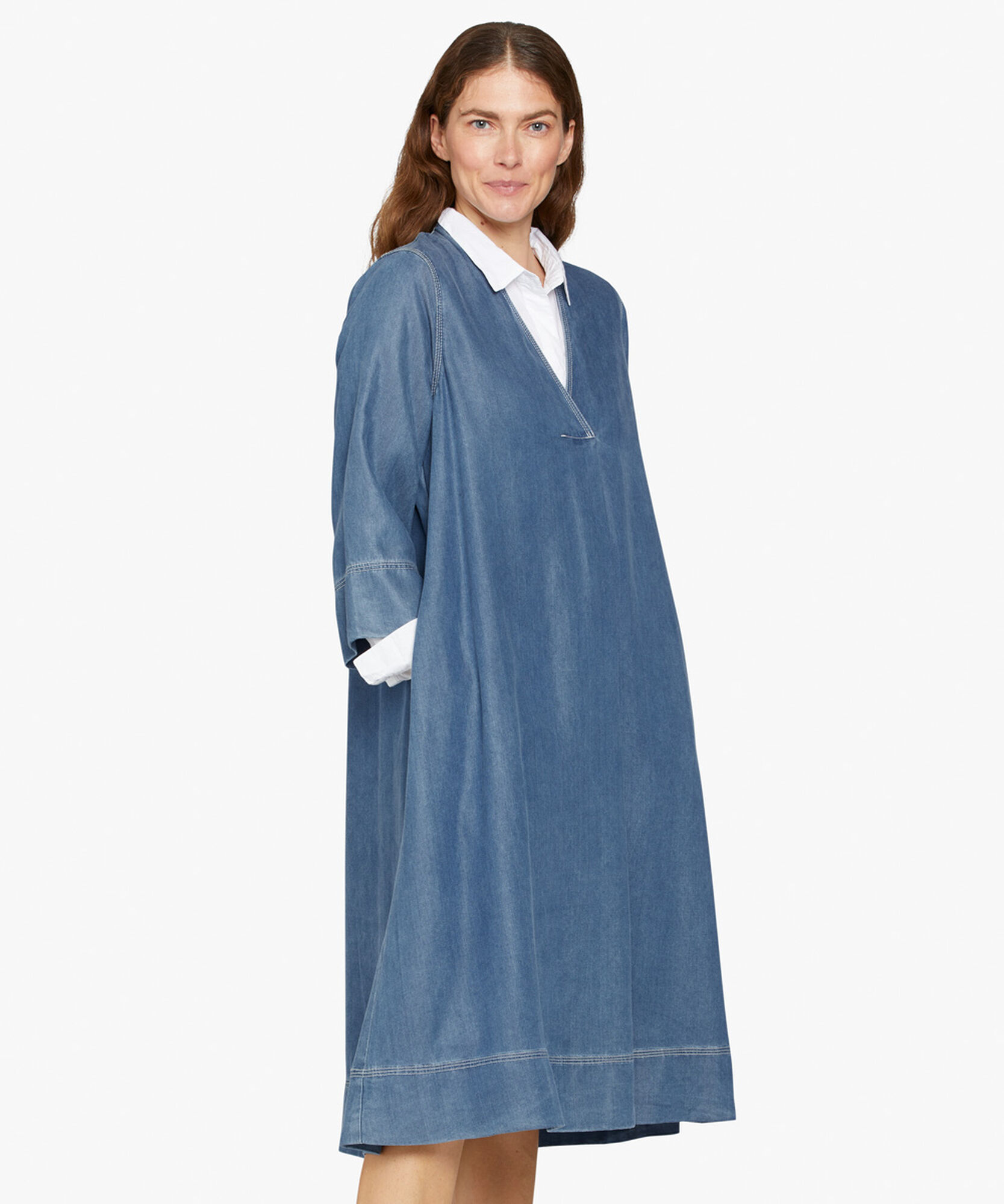 NILSA DRESS, Blue Denim, hi-res