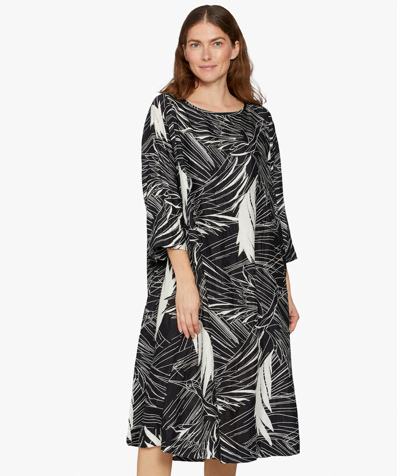 NABIA DRESS, Black, hi-res