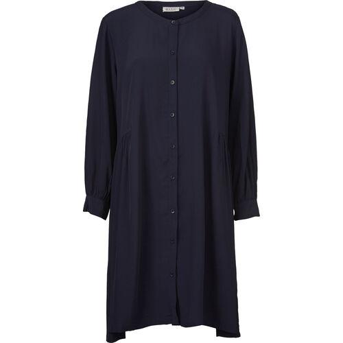 NELLY SHIRT DRESS, NAVY, hi-res