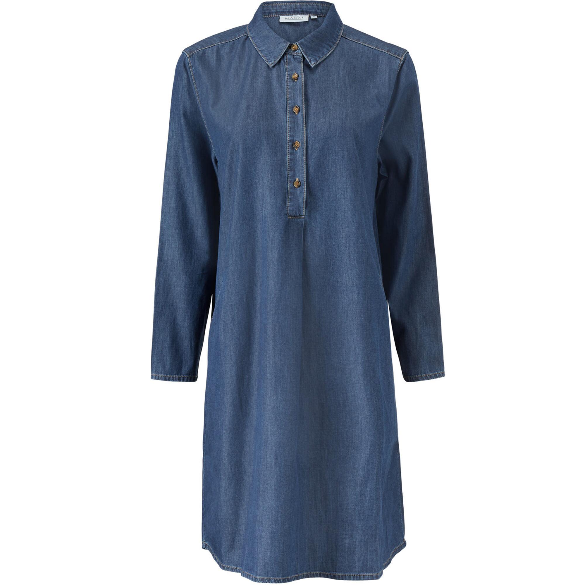 NALFA SHIRT DRESS, D Basic Denim, hi-res