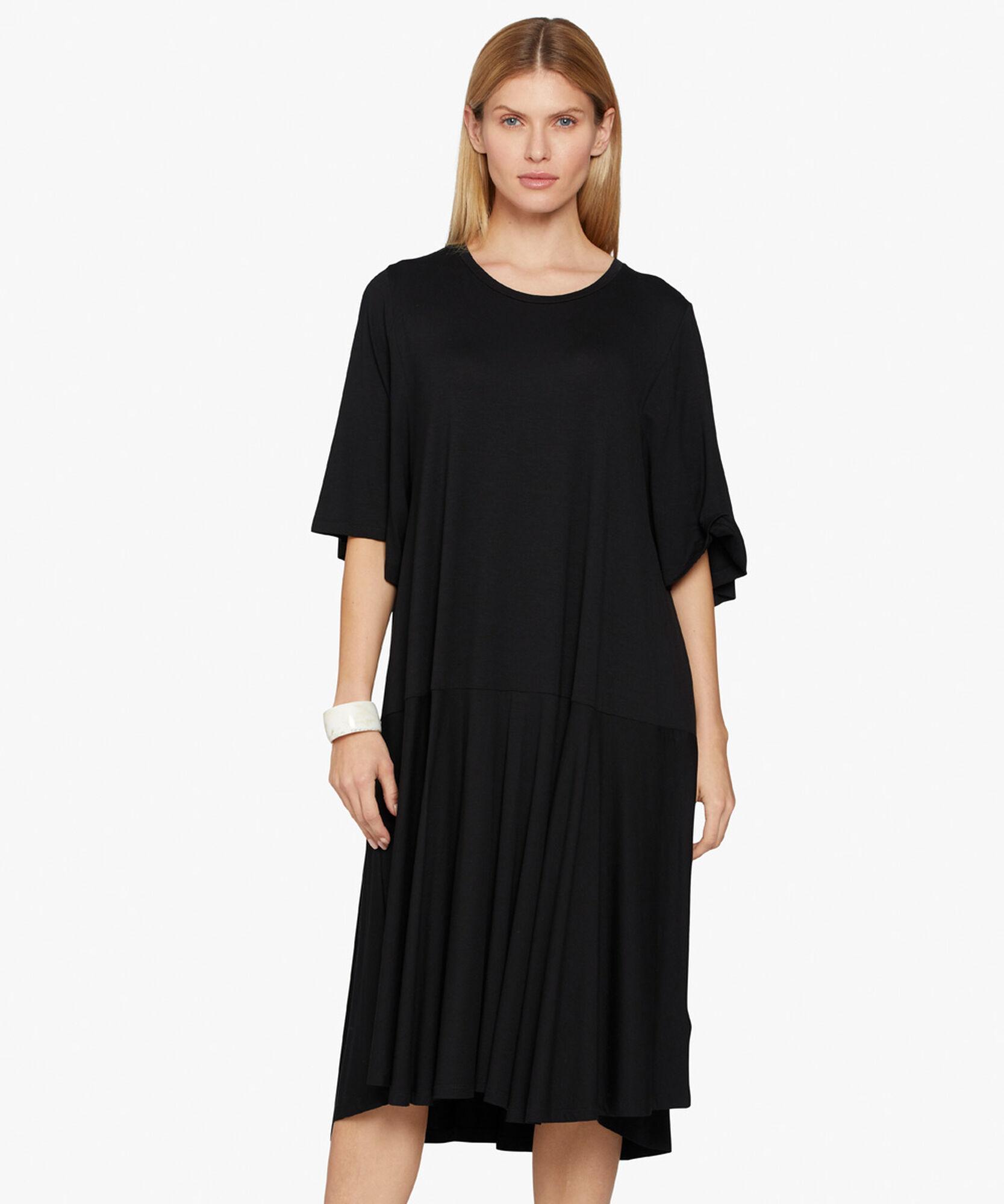 NESSANA DRESS, Black, hi-res
