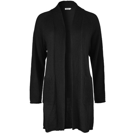 LEONIA CARDIGAN, BLACK, hi-res