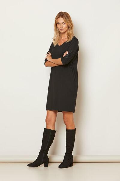 NULLI DRESS, BLACK, hi-res