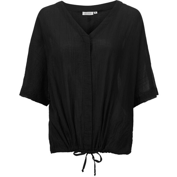 ILONA BLOUSE, BLACK, hi-res