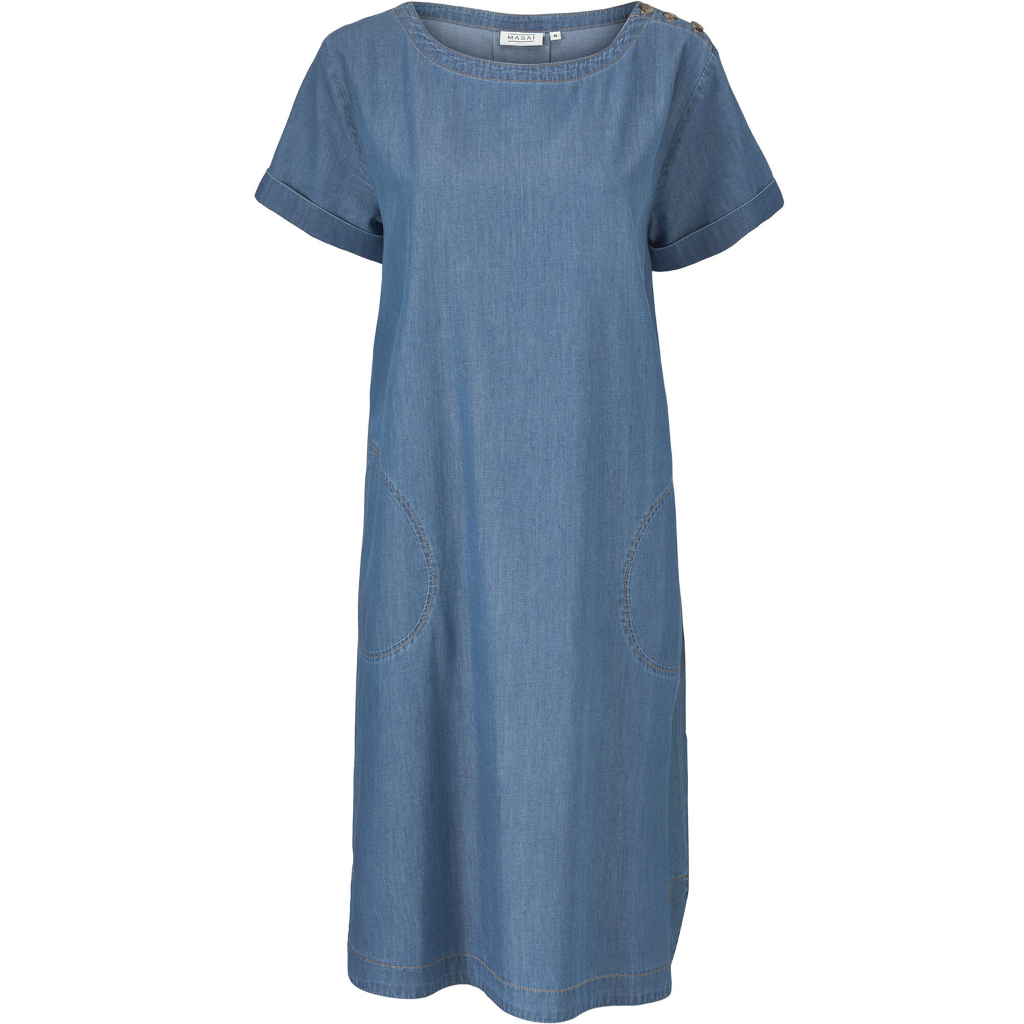 NALANI DRESS, L Basic Denim, hi-res