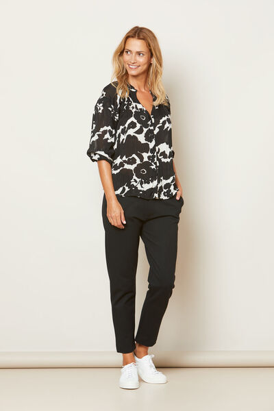 IBILIS BLOUSE, BLACK ORG, hi-res