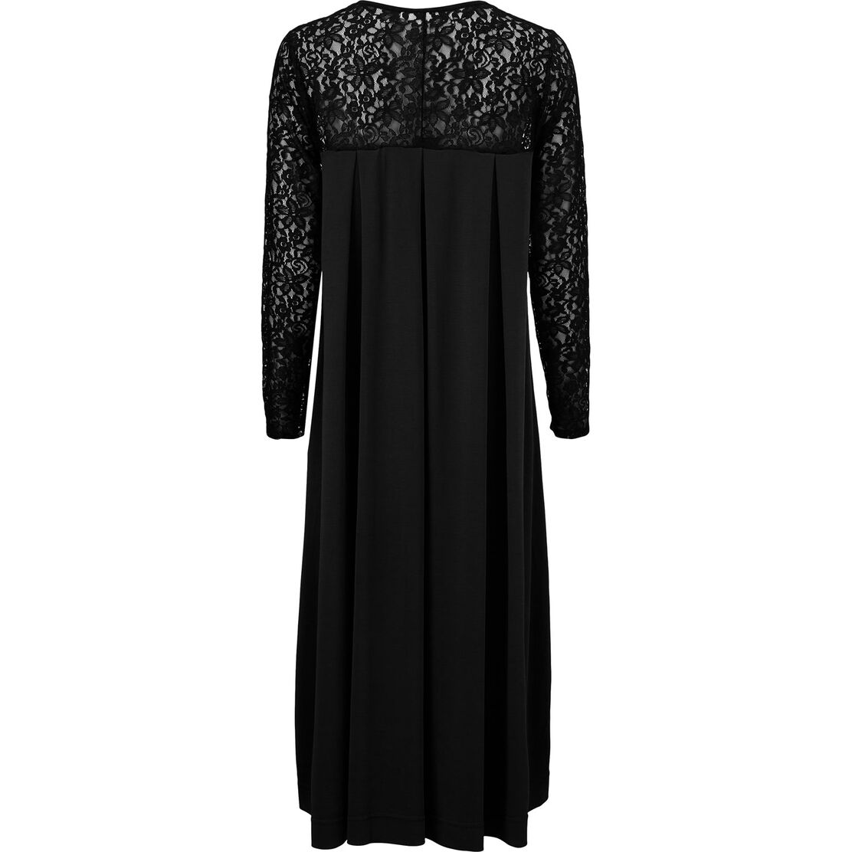 NERIDA JERSEY DRESS, Black, hi-res