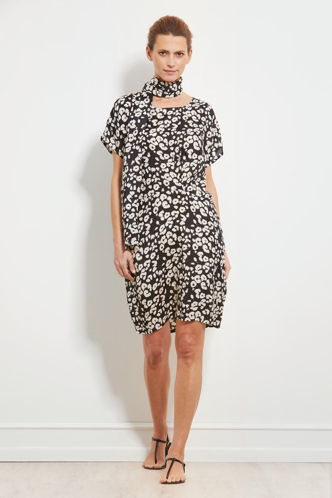 OMIA DRESS, BLACK ORG, hi-res