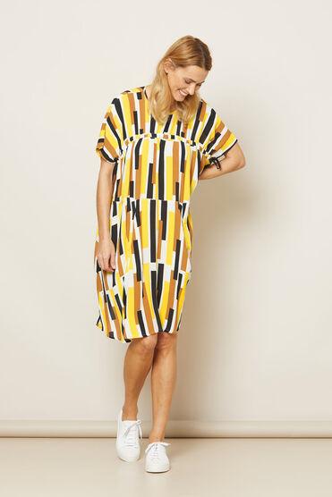 OANA  DRESS, Cream gold, hi-res