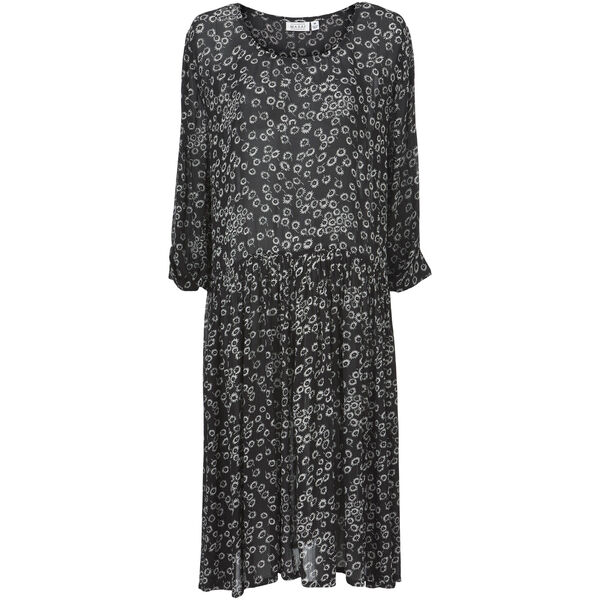NANCY DRESS, Black, hi-res