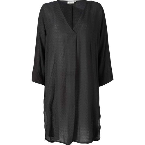 NINON DRESS, BLACK, hi-res