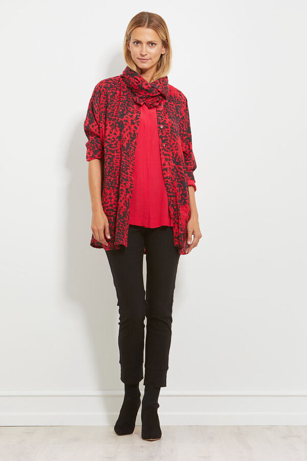 IZETTE BLOUSE, RUBY, hi-res