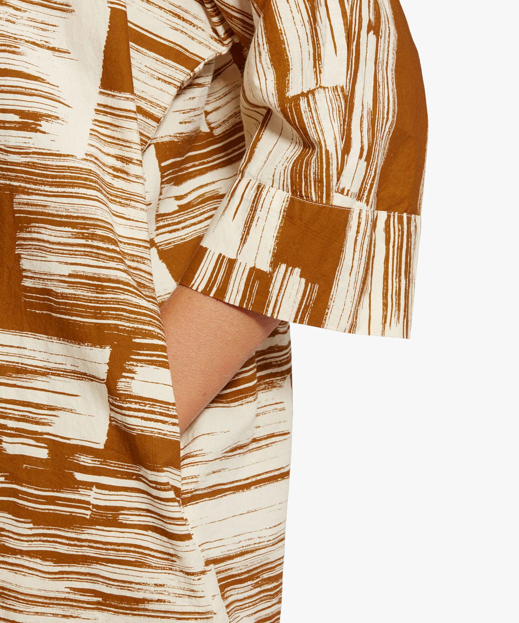 IOSETTA SHIRT DRESS, Monk's Robe, hi-res