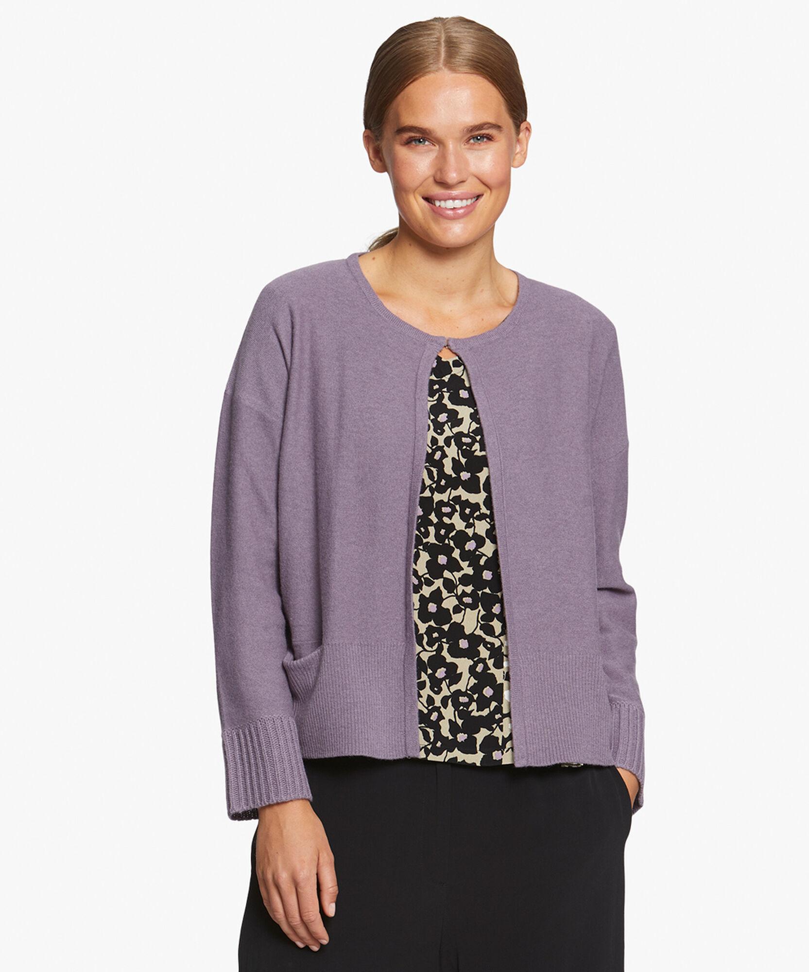 LEANN CARDIGAN, Purple Sage, hi-res