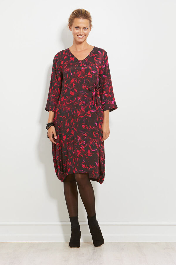 NUSSA DRESS, RUBY, hi-res