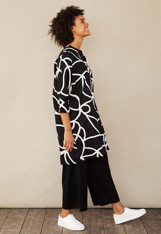 Iosette_balckandwhite_print_dress